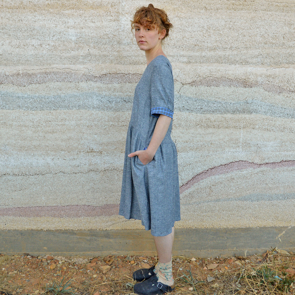 Kirsten Dress in Poplin Stripe - Hemp/Organic Cotton (Women's)