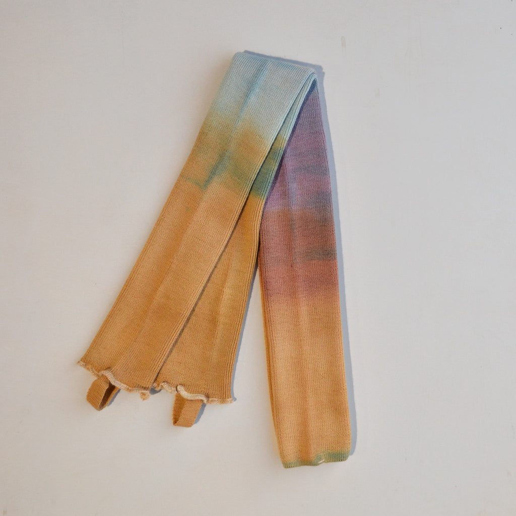 Plant Dyed Legwarmers in Organic Wool - Dip Dyed (8y-Adults)