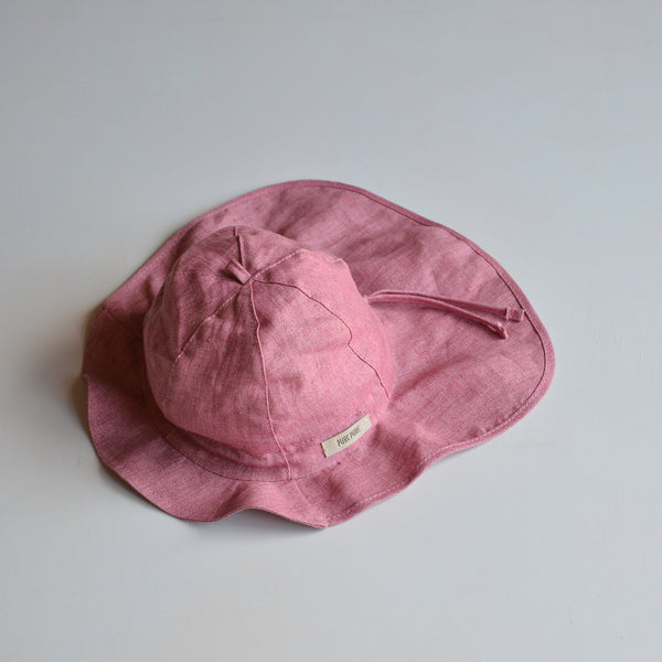 Linen Hat with Neck Protection (baby-8y)