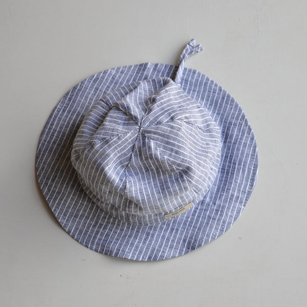 Linen Sun Hat - Stripes (0-5y)