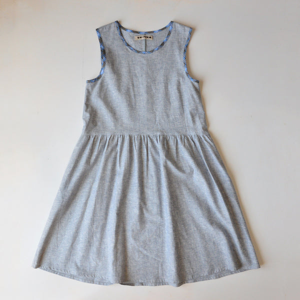 Lisa Dress in Light Chambray - Hemp/Organic Cotton