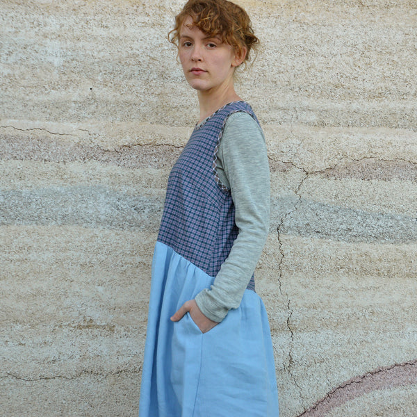 Lisa Dress in 100% Hemp with Handloomed Cotton Bodice