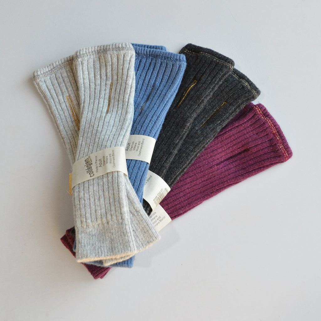 Fingerless Mittens - Wool/Cashmere Blend (Adult)