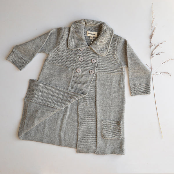 Moss Coat in Highland Wool - Grey (18m-8y)