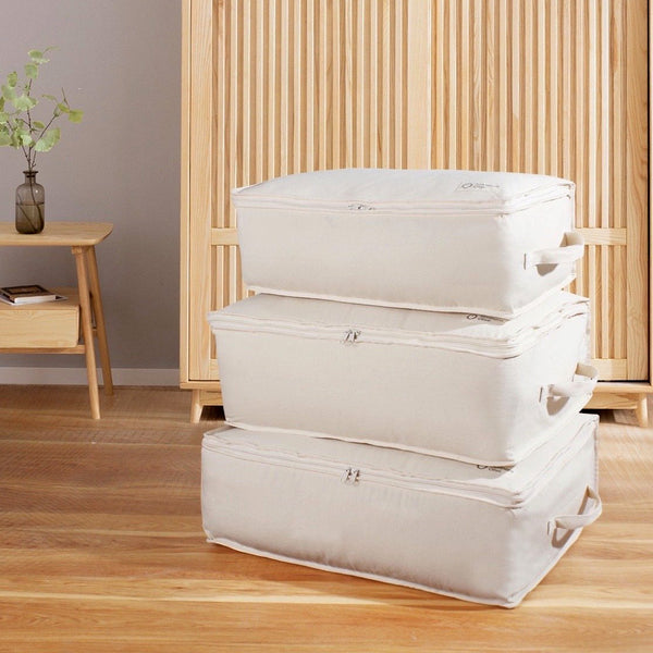 Organic Cotton Knitwear Storage Cubes - Large 3 Pack