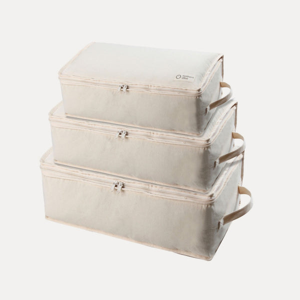 Organic Cotton Knitwear Storage Cubes - Family Large 3 Pack