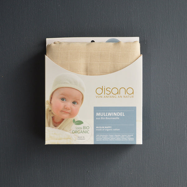 Organic Cotton Muslin Nappy/Liners/Cloths (5 pack)