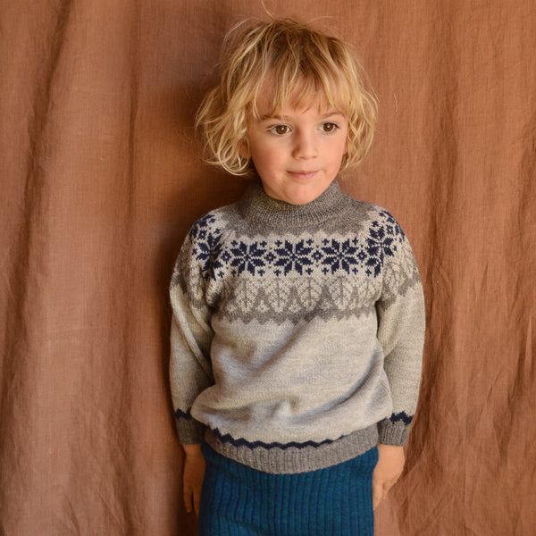 Islandia Sweater in Baby Alpaca (1-6y)