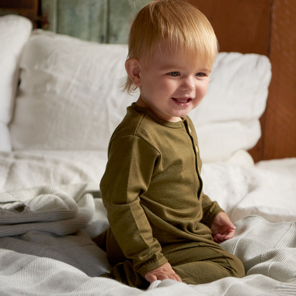 Baby Sleep Suit in 100% Merino (0-12m)