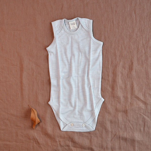 Sleeveless Baby Body 100% Merino (0-12m)
