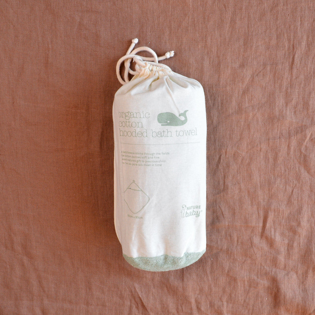 Organic Cotton Hooded Towel - Dew