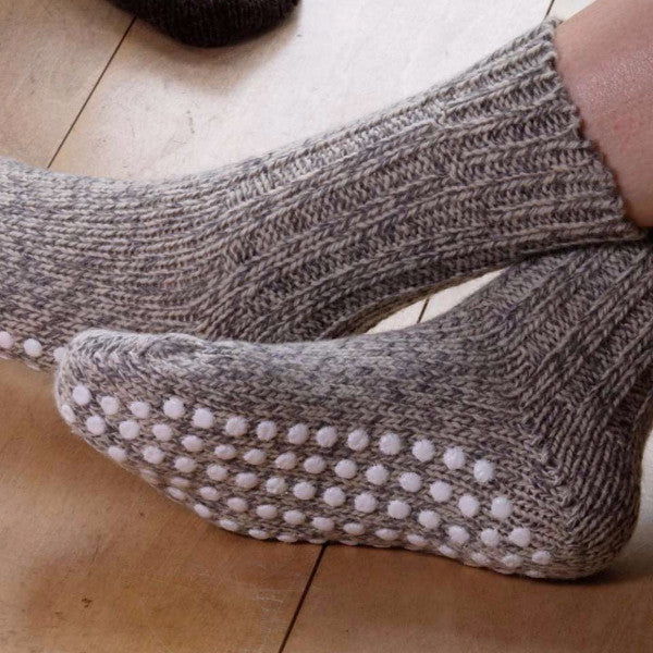 Adult's Grippy Norwegian Socks (36-43) 100% Organic Wool