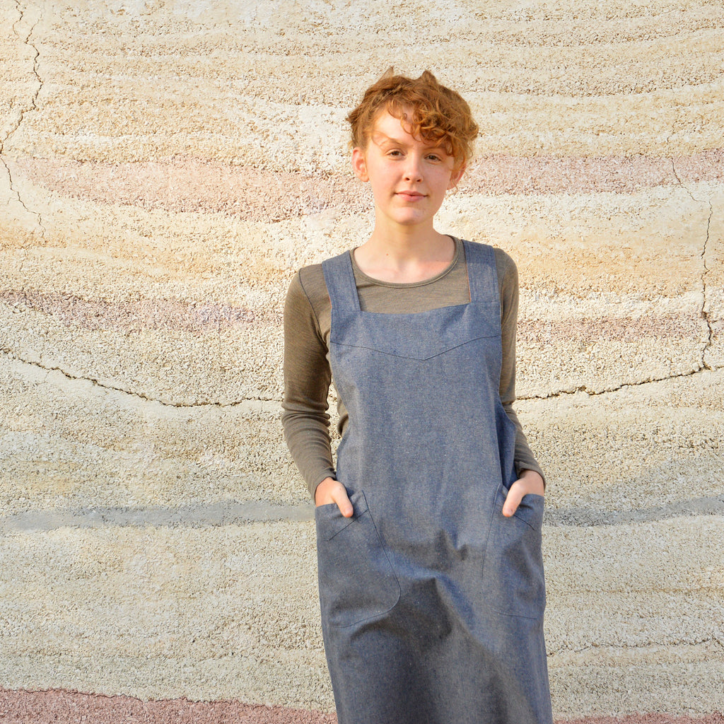 Mamiko Apron Pinafore - Recycled Hemp (M-L only)