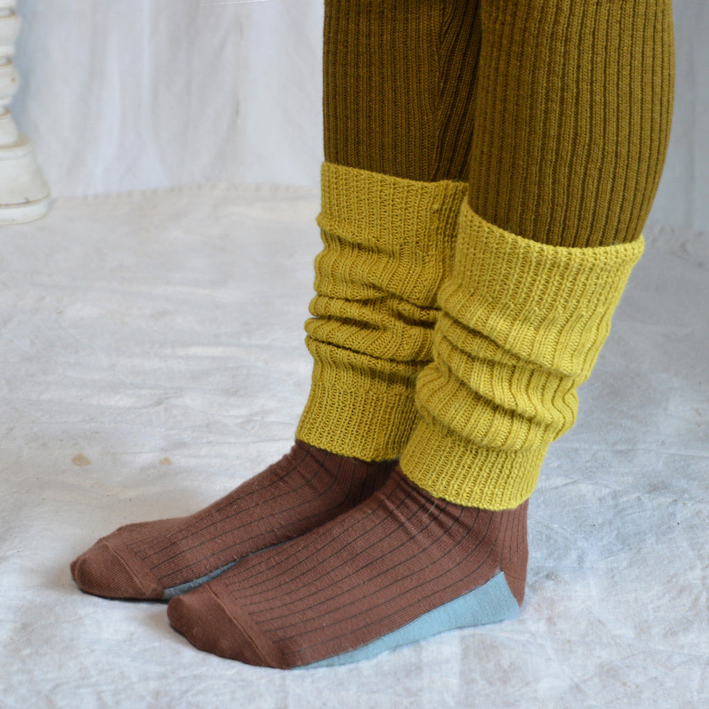 Ribbed Legwarmers in baby alpaca (5yrs-Adults)