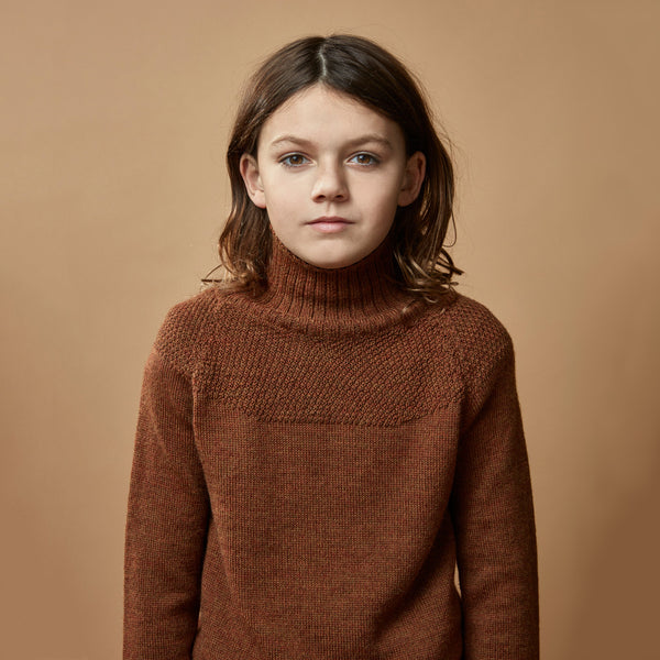 Sailor Sweater in alpaca/merino - Gingerbread (3-12y)