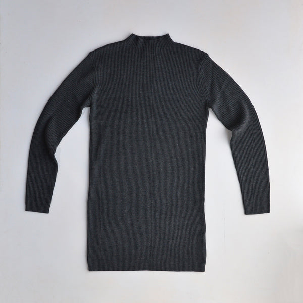 Merino Rib Tunic - Charcoal Melange (S only) *Last One!
