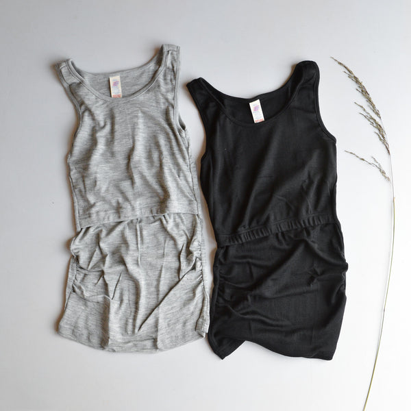 Breastfeeding/Maternity Tank in Merino/Silk