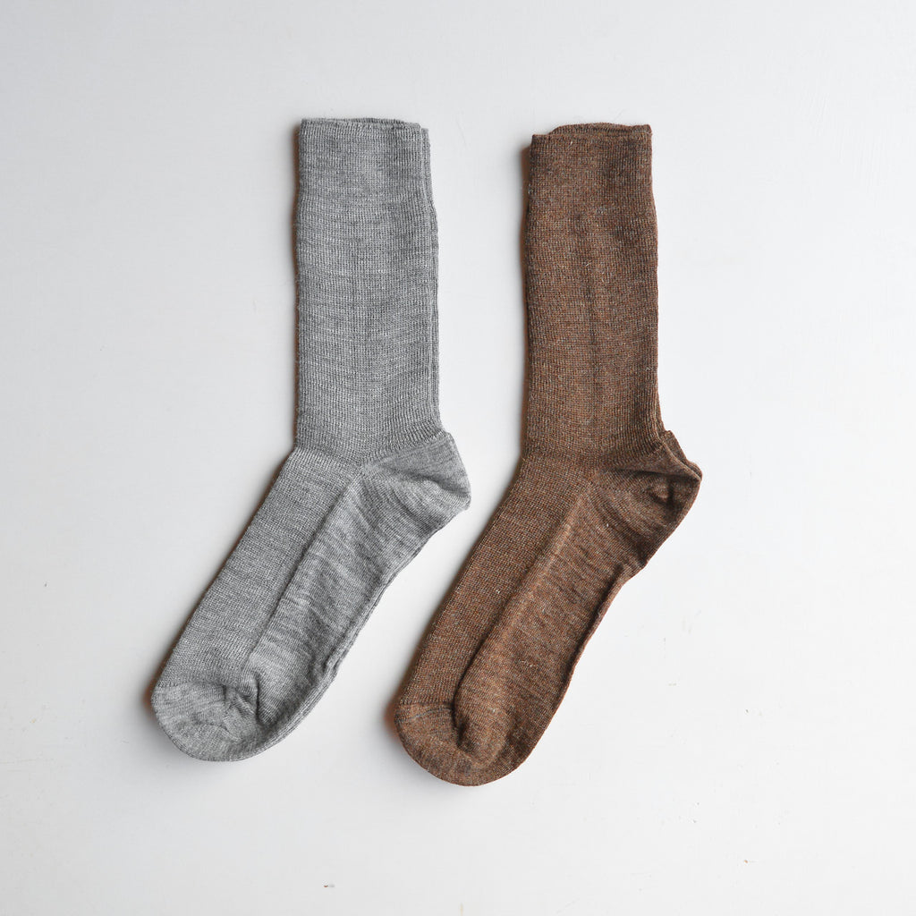Fine Rib Wool Socks (Adults)