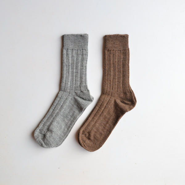 Medium Rib Wool Socks (Adults)