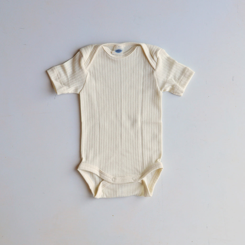 Baby Body Short Sleeve Cotton/Wool/Silk (3m-3yrs)