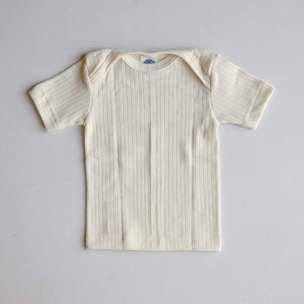 Baby T-Shirt Cotton/Wool/Silk - Natural (0-3yrs)