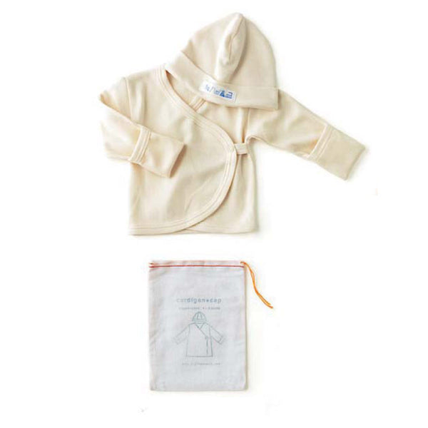 Baby Cardigan & Hat Set in Organic Cotton