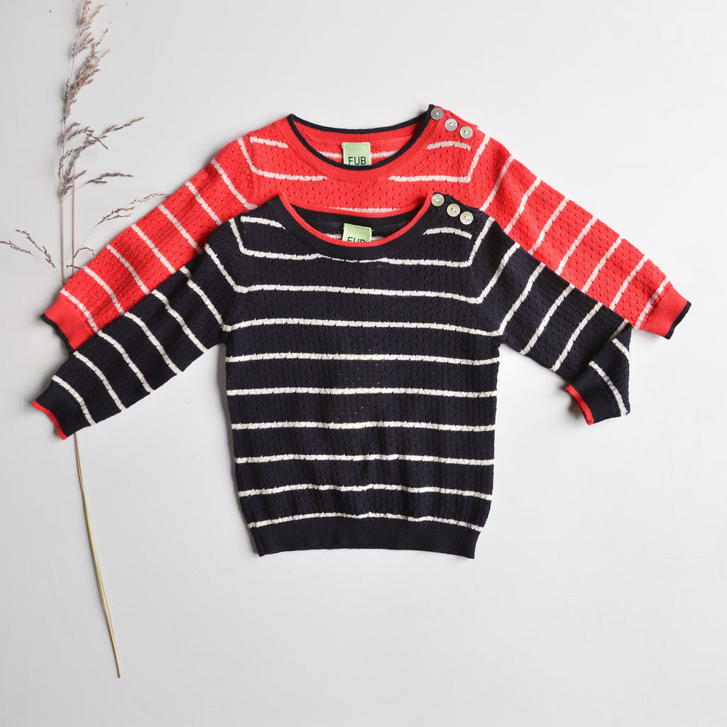 Baby Pointelle Fine Merino Sweater (3-9m only) *Last Ones