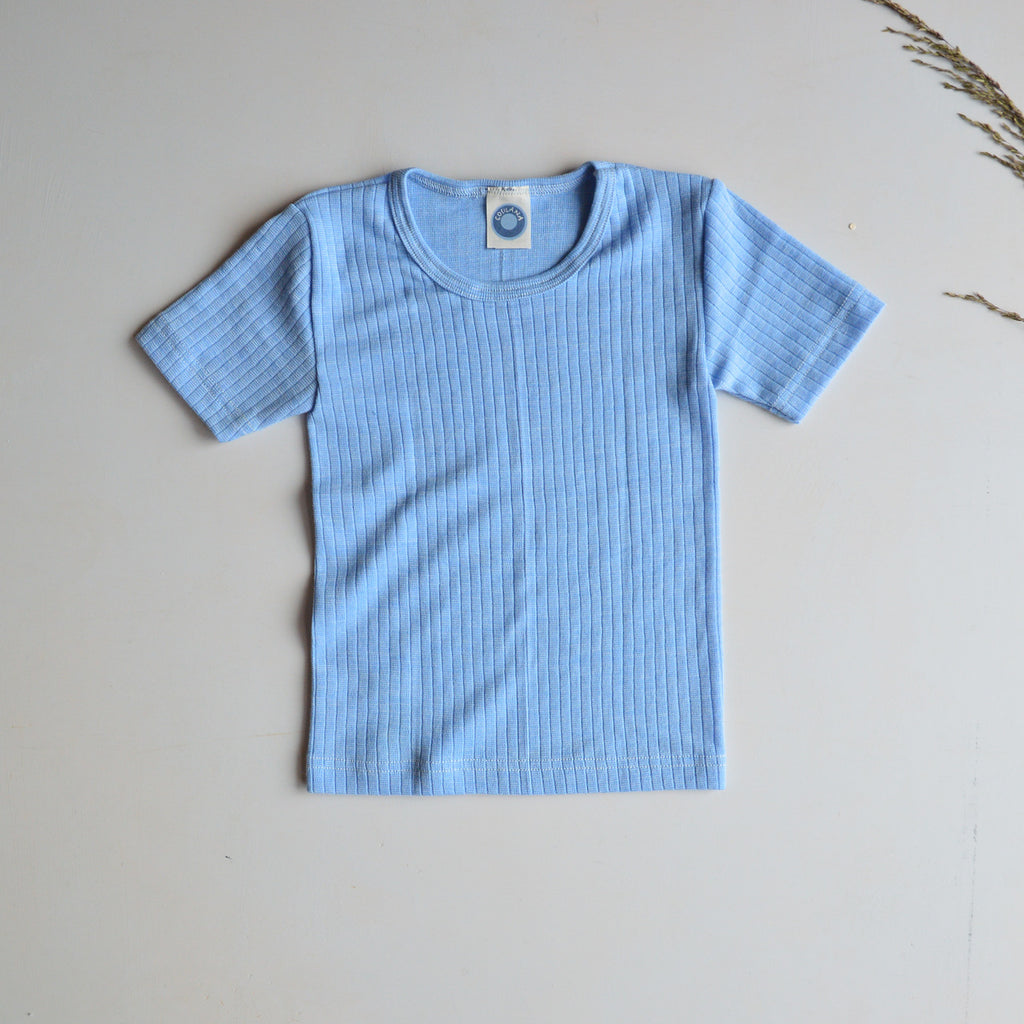 Child's Shortsleeve Top in Cotton/Wool/Silk (9-10 years) *Last One!