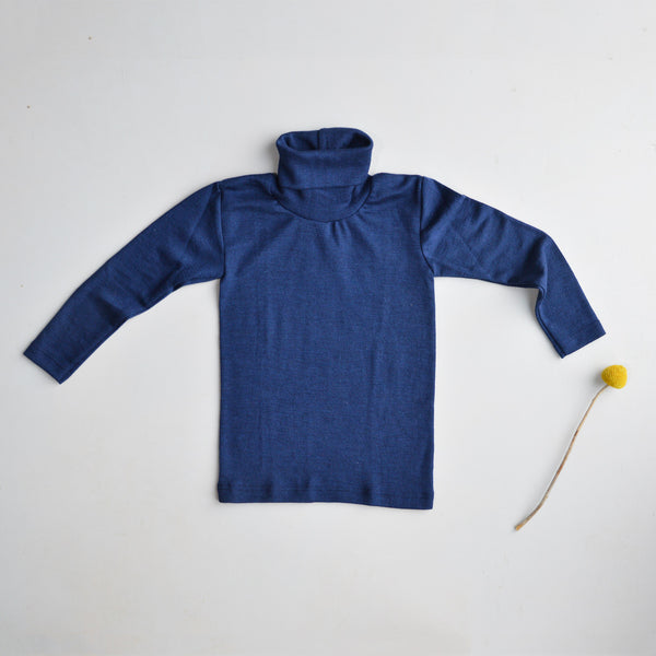 Wool Silk Turtleneck Thermal Top for Kids by Engel Natur from Woollykins