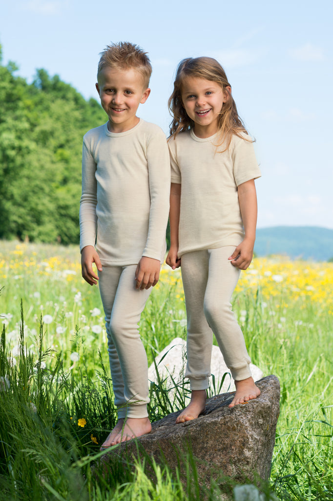 Child's Merino Wool & Silk Thermals/PJs - Top (1-12yrs)