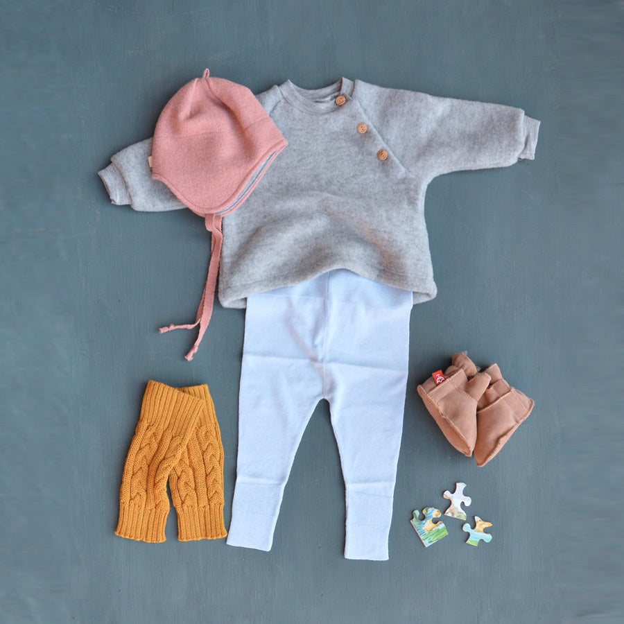 Baby Wool Fleece Raglan Jumper (0-3m & 6-12m Teal) *Last Ones