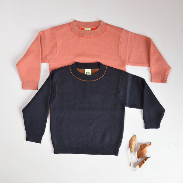 Contrast Sweater (2-12y)