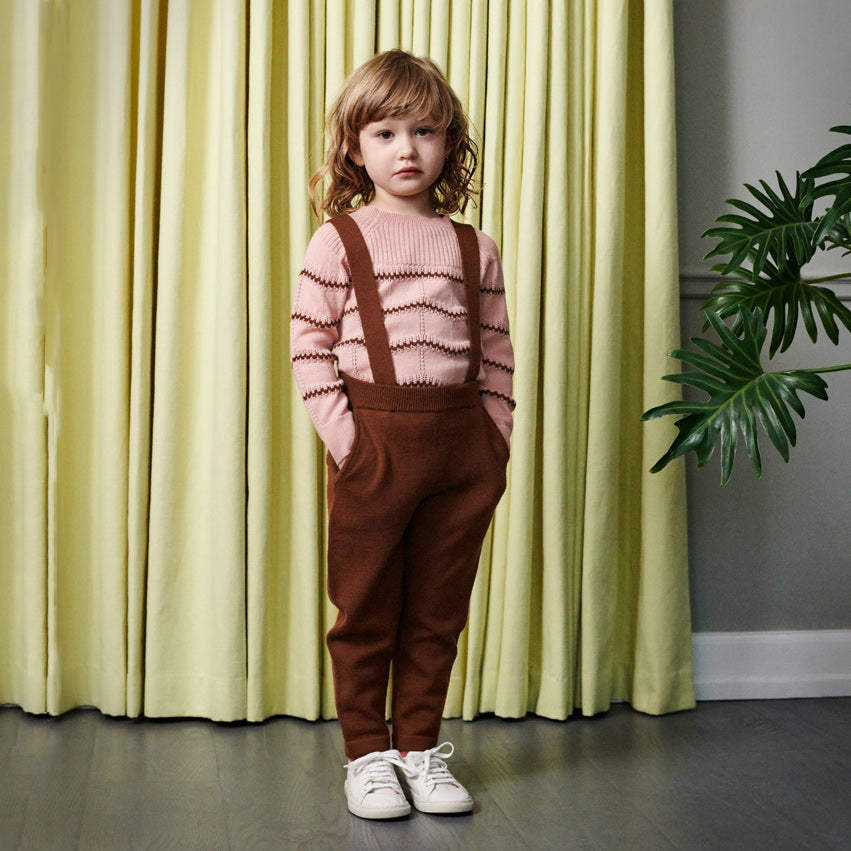 Kids Merino Pants with Removable Braces (2-8y)