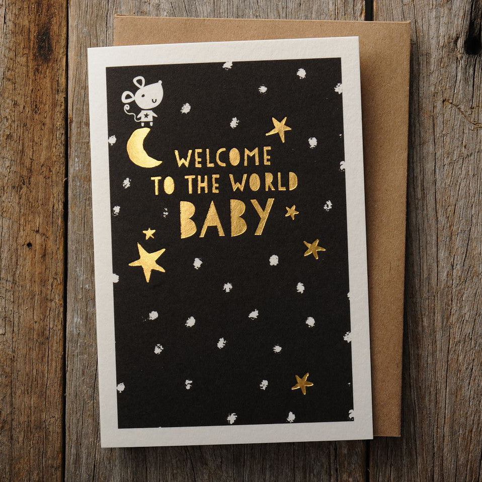Letterpress Greeting Card - Welcome to the World