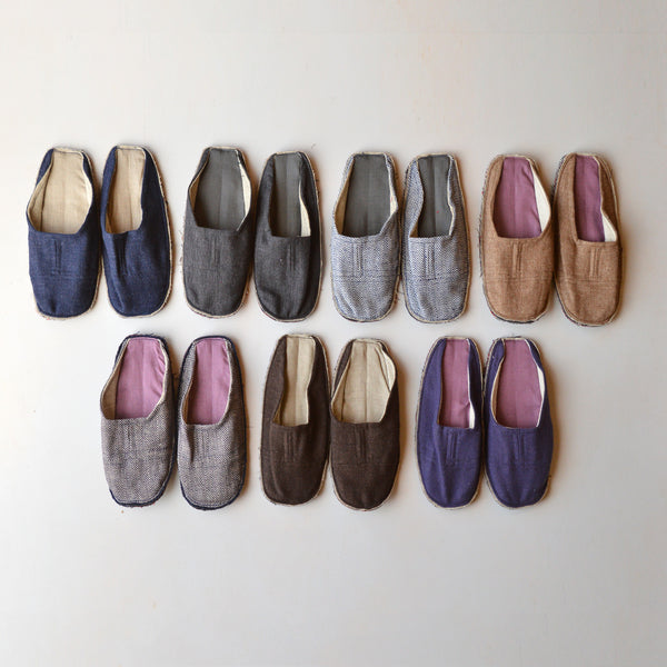 Guest Slippers Wool/Linen (Adults)