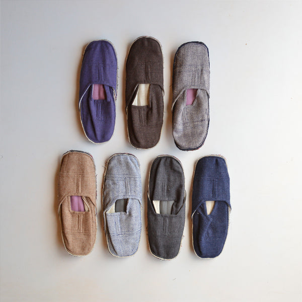 Japanese Guest Slippers Wool/Linen (Adults)