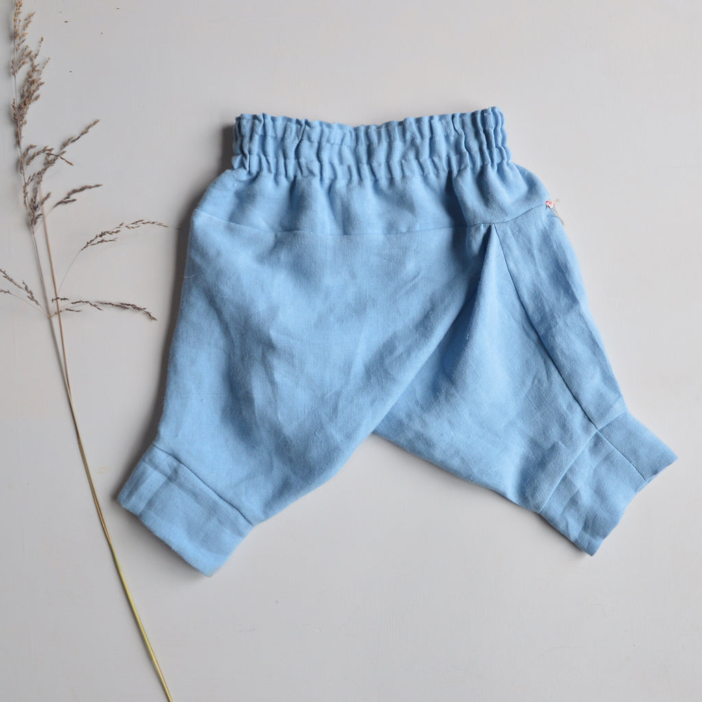 Hemp Pantaloons - Powder Blue (6-24m)
