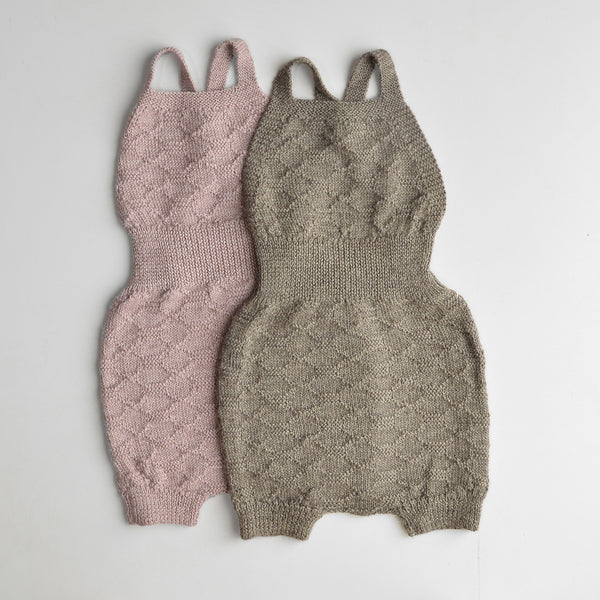 Hexagon Knit Romper in Baby Alpaca (9m-3y)