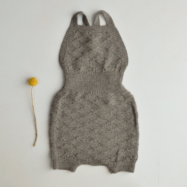 Hexagon Knit Romper in Baby Alpaca (18m-3y only) *Last ones