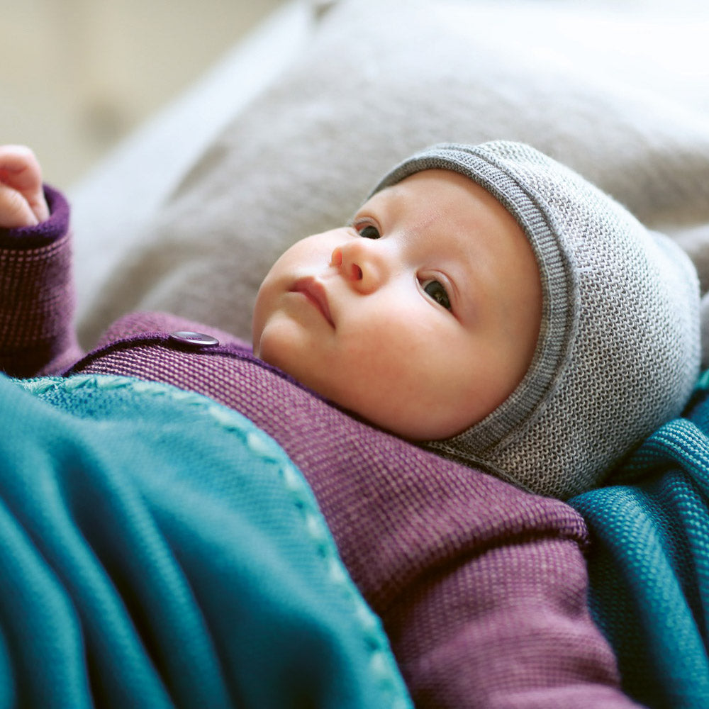 AW19 Bonnet in Organic Merino Wool (0-12m)