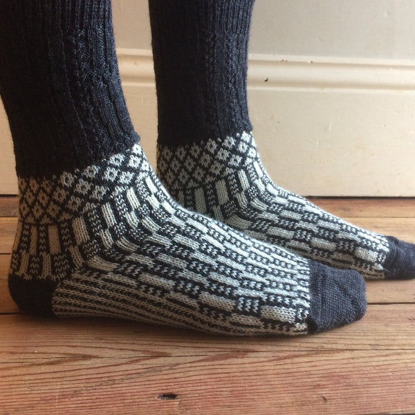 Hygge Fairisle Socks (adults) 100% wool