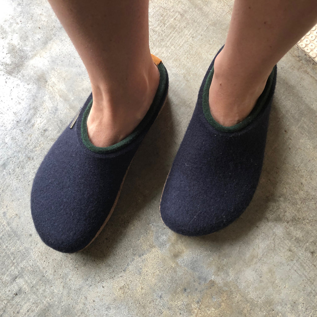 Unisex Felt Clogs - Midnight Blue (36-45)