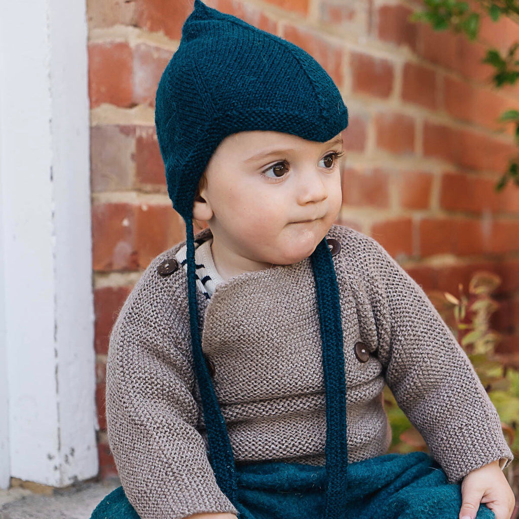 Rico Sailor Sweater in Baby Alpaca - Light Brown (9-18m) *Last One!