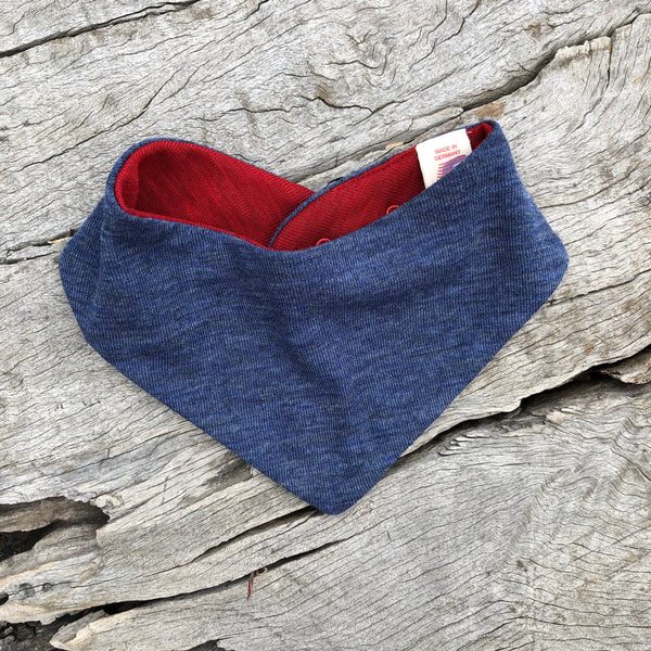 Reversible Merino Neckerchief Dribble Bib *Last Ones