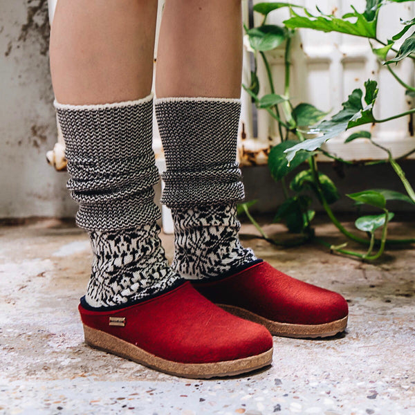 Women's Felt Clogs Paprika