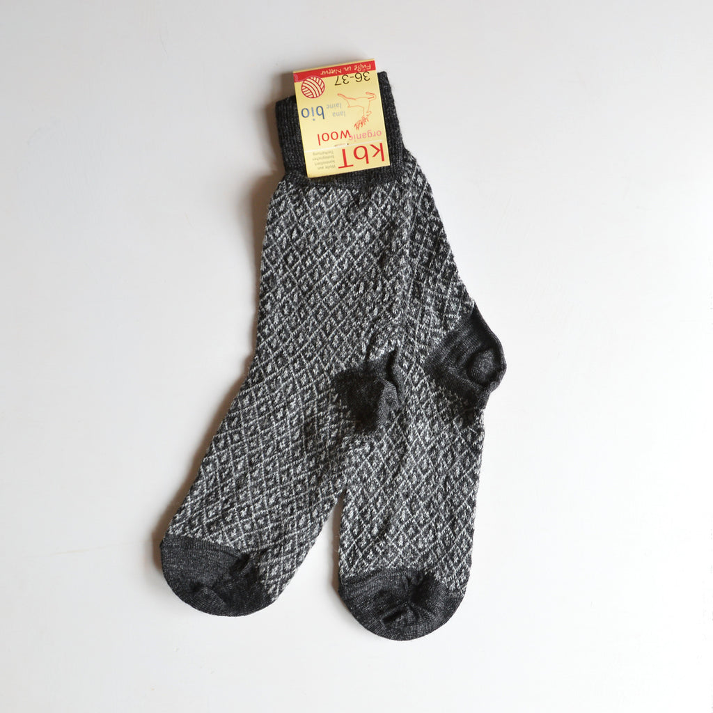 Fine Jacquard Socks (adults) 100% wool (36-41)