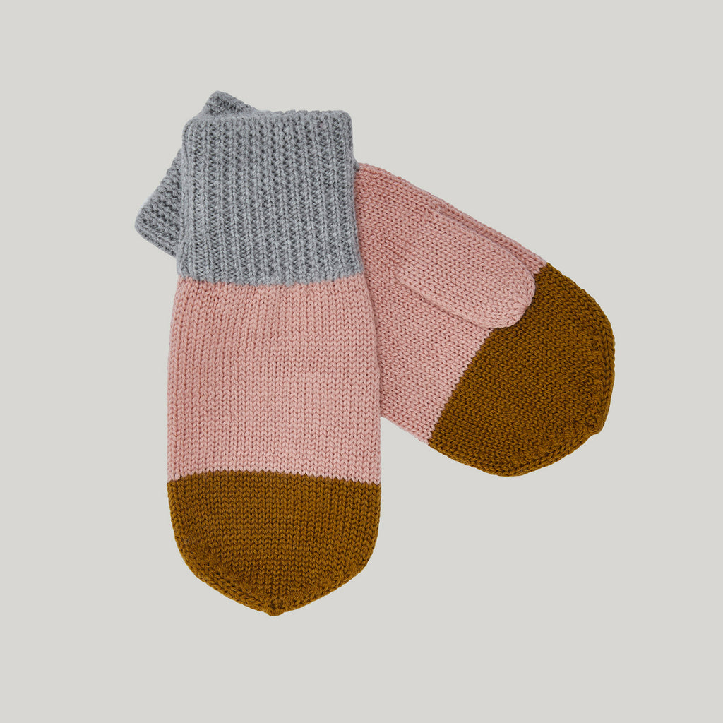 Colourblock Knitted Mittens (2-12y)