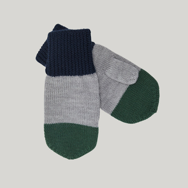 Colourblock Knitted Mittens (6-12y navy only)