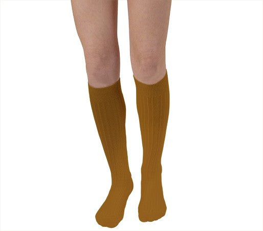 Kneehigh Ribbed Socks in Egyptian Cotton (child-adult)