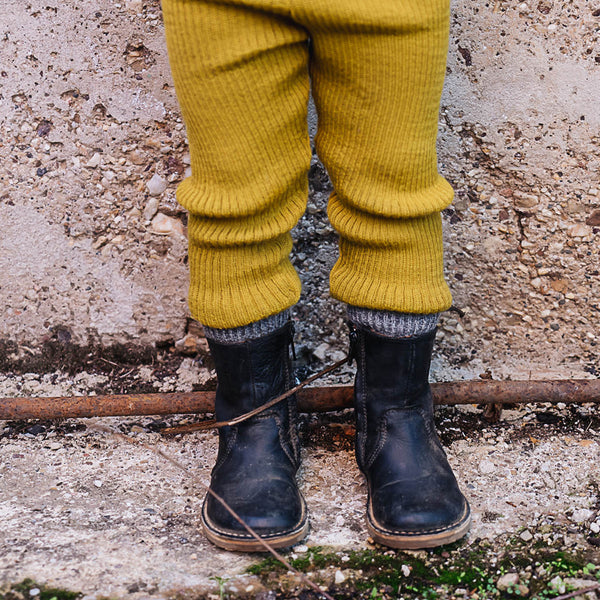 Knitted Merino Rib Pants (0-10y)